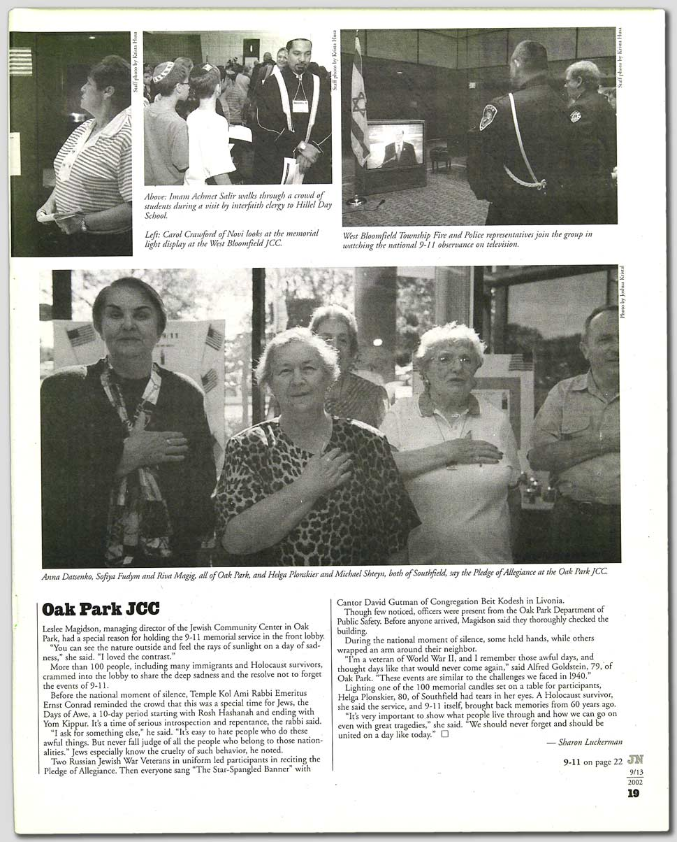 Detroit Jewish News - Detroit Jewish News: September 13, 2002